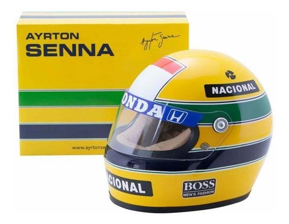 Ayrton Senna Capacete 1988 Mclaren Miniatura Escala 1:2