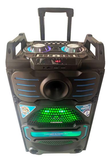 Caixa Som Bluetooth Portátil Rádio Fm Usb Microfone Bivolt