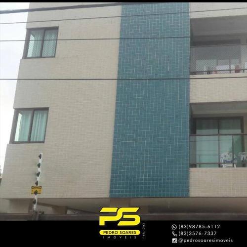 Apartamento Com 2 Dormitórios Para Alugar, 60 M² Por R$ 1.700/mês - Altiplano Cabo Branco - João Pessoa/pb - Ap4297