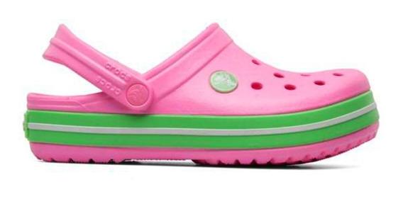 Crocs Crocband Niña Carmation Green Glow Original