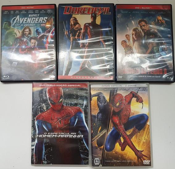 Lote Filmes Marvel Homem Aranha Daredevil Original Importado