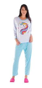 Kit Com 3 Pijamas De Frio Feminino Longo - Malha Inverno