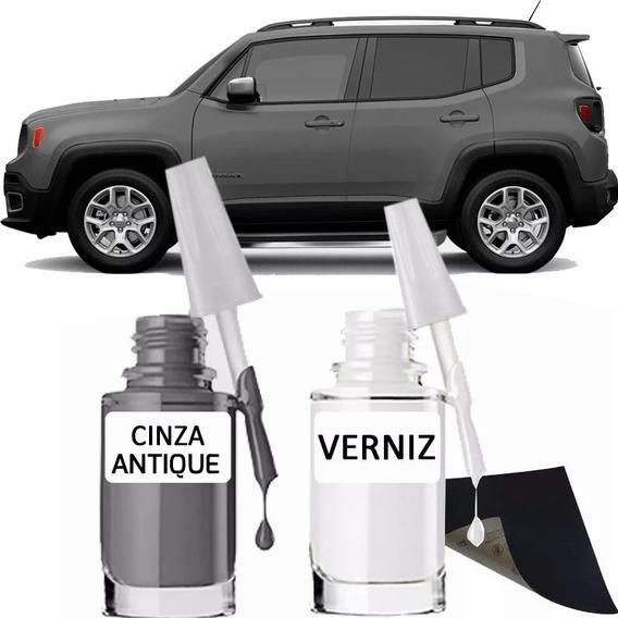 Tinta Tira Risco Automotivo Jeep Renegade Cinza Antique
