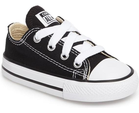 Zapatillas Converse All Star Chuck Taylor Kids De Niño Negra