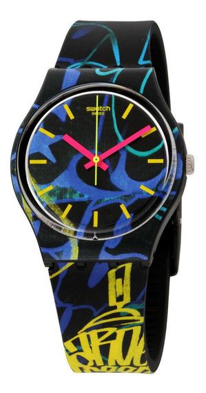 Relógio Masculino Swatch Gb318 Pulseira De Silicone