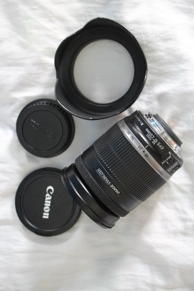 Lente Canon Ef-s 18-200mm Com Parasol