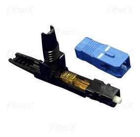 Conector Fast Rápido Fibra Óptica Azul Sc/upc 100 Unidades