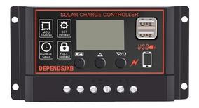 Controlador De Carga Solar Pwm 50a 12v/24v