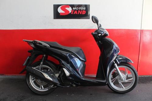 Imagem 1 de 10 de Honda Sh 150i 150 I Abs 2018 Azul