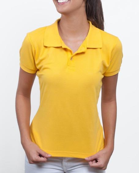Camisa Polo Feminina Camiseta Gola Atacado Uniforme Piquet