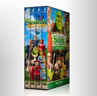 Shrek Colección Completa + 2 Especiales Tv Pack 6 Discos
