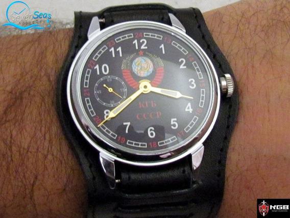 Raro Relogio Antigo Militar Gigante Kgb Trench Watch