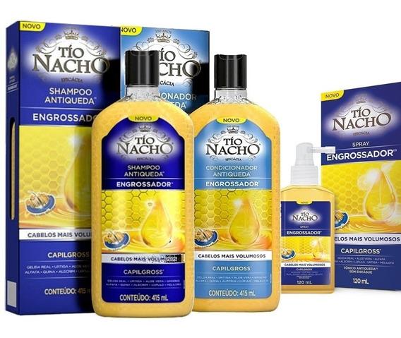 Tio Nacho Sh+cond Engrossador + Spray Capilgross Tônico