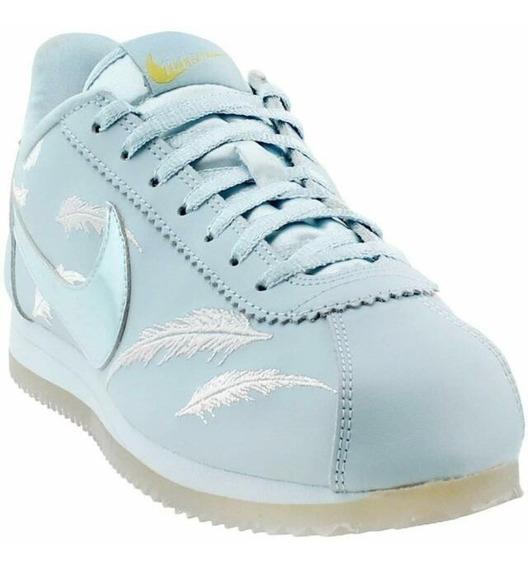 Nike Cortez Ocean Bliss Feathers! Talle 38.5 Únicas!