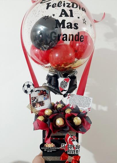 Regalo Sorpresa Hombre Globos Burbujas Ferrero Mensaje Ideal