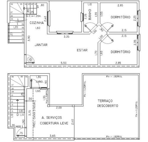 Apartamento Cobertura Para Venda No Bairro Parque Das Nações, 2 Dorm, 1 Suíte, 2 Vagas, 80 M M - 432