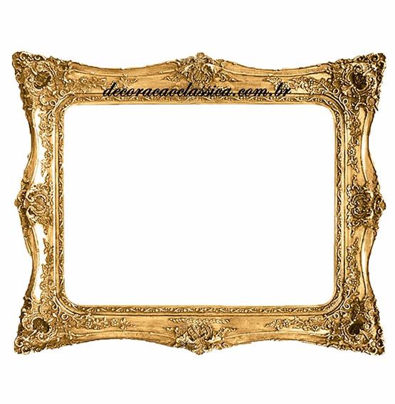 Espelho Madeira Horizontal Folheado A Ouro
