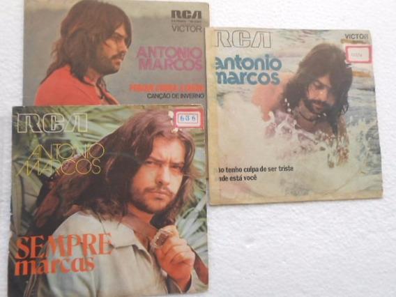 Antonio Marcos Vinil 7 Compacto Jovem Guarda Lote C/ 3
