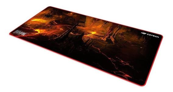 Mouse Pad Gamer C3tech Doom Fire 70 X 30 Cm Borda Costurada