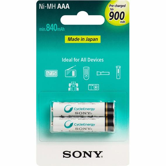2 Pilhas Palito Aaa Recarregavel Sony Original Ni-mh 900mah