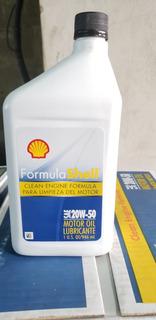 Aceite Shell 20w50 Mineral Importado De Usa