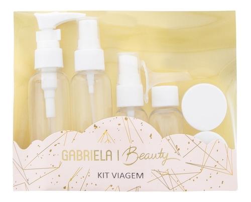 Kit Viagem Gabriela Beauty Oito Frascos Branco