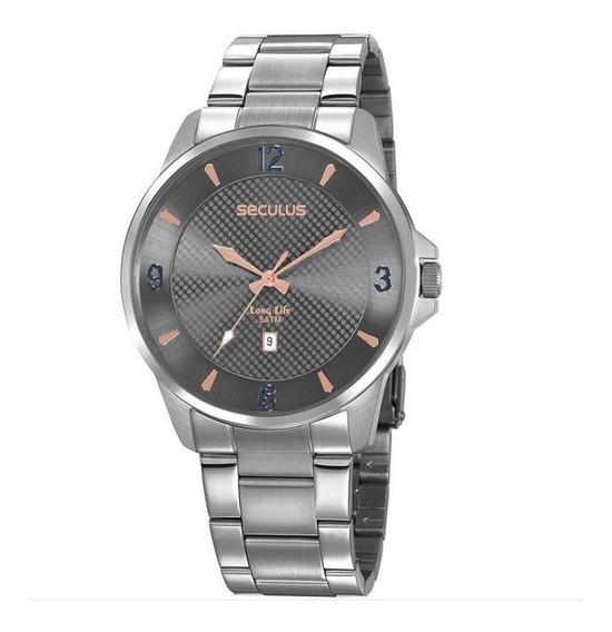 Relógio Seculus Masculino 20806g0svna3 Casual Prateado