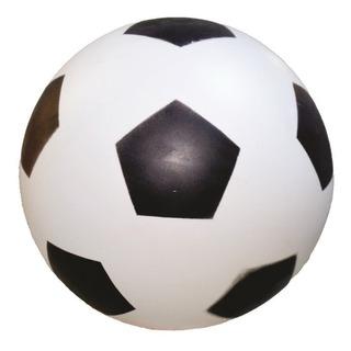 Bola De Vinil Dente De Leite Branco Com Preto De Futebol.