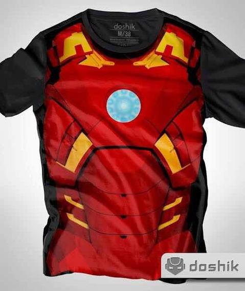 Playera Diseño De Iron-man Hecha De Algodón