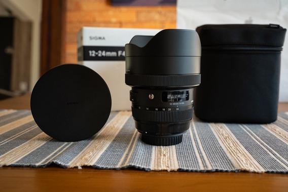 Lente Sigma 12-24mm F/4 Art Para Canon - Zero Distorção