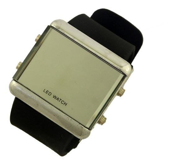 Relógio De Pulso Masculino Tela Led Pulseira Borracha B5656