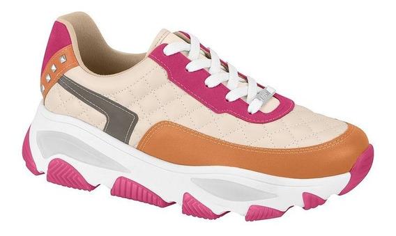 Tênis Feminino Sneaker Robusto Napa Creme Vizzano 1343202