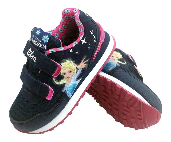 Zapatillas Addnice Frozen Luces Disney Ana Elsa Fty Calzados