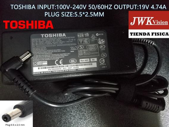 Cargador Laptop Toshiba Original 19v 4.74a Plug5.5*2.5mm Jwk