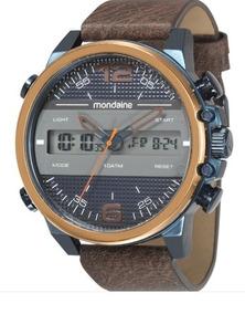 Relógio De Pulso Mondaine Masculino Digital E Analógico Azul