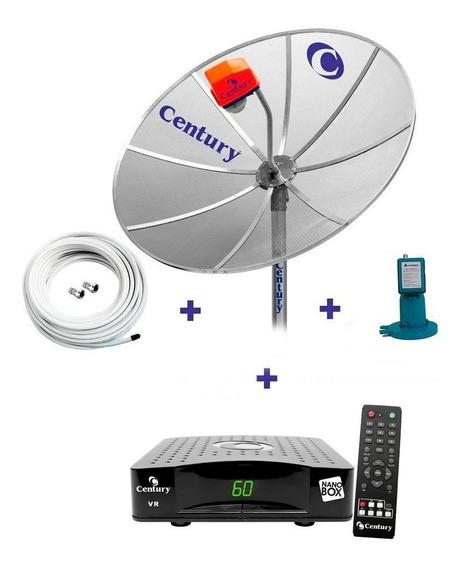 Parabolica Century Antena 1,5 Receptor Analogico Lnbf Cabo