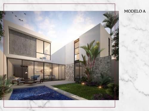 Casa En Venta En Privada En Temozon Nte, Merida Yucatan