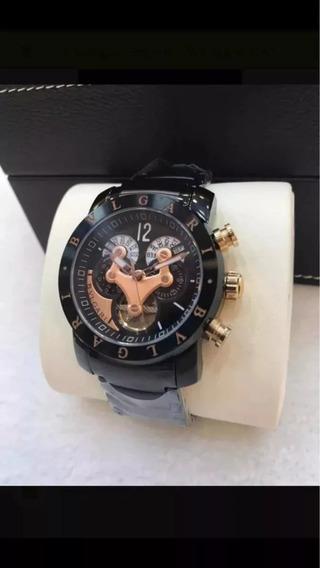Relógio Ffx6977 Bv Preto Automático Linha 3d Preto Rose Top