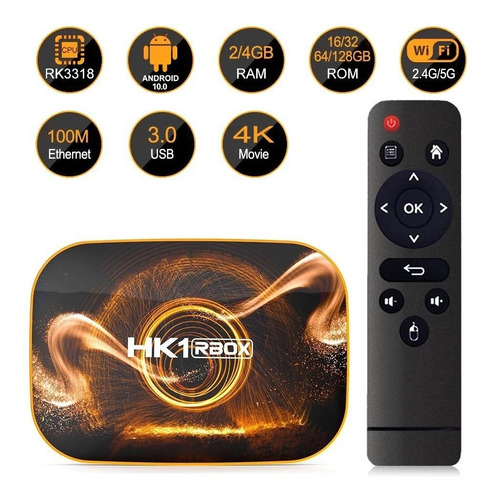 Tv Box Smart 4k Hk1 Rbox Android 10+mes Iptv