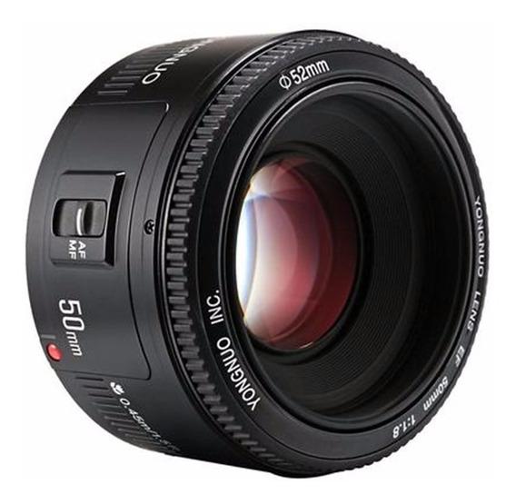 Lente 50mm Canon Ef Yongnuo + Parasol T3i T4i T5i T6 70d 80d
