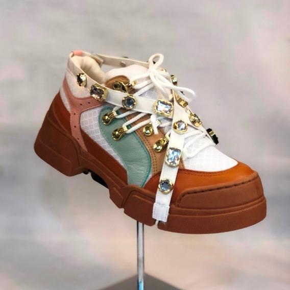 Tênis Parô Chunky Sneaker Colorido Couro - Loja Atitude