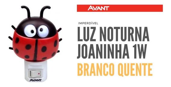 Luz Noturna Led Abajur Infantil Joaninha 1w Avant 3000k