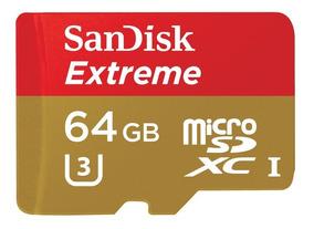 Cartão De Memoria Sd Sdxc Sandisk Extreme 64gb - Original