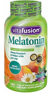 Multivitaminicos Vitafusion Melatonin Gummy Vitamins, 140 Ct
