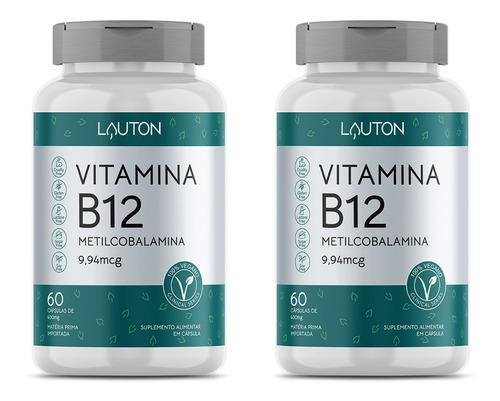 Vitamina B12 9,94mcg - 60 Cápsulas - Lauton Nutrition (2 Un)