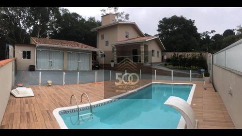 Imagem 1 de 25 de Casa Com 5 Dormitórios E Terreno Com 2.000m2 À Venda - Alto Aririu - Palhoça/sc - Ca0753