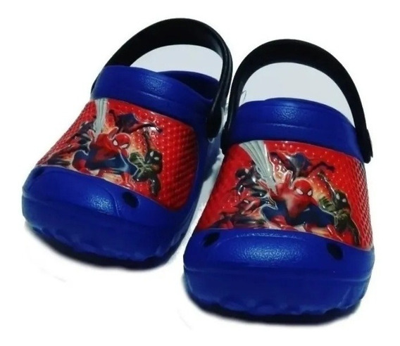 Cholas Sandalias Sapitos Spiderman Para Niño 22-29