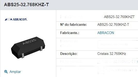 Cristal Oscilador Abs25-32.768 ( Kit C/10 Peça)