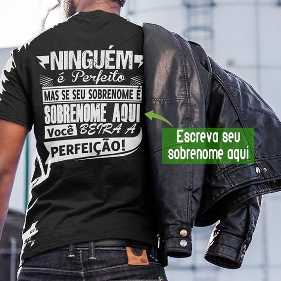 Kit Com 3 Camisetas Personalizada Com O Sobrenome