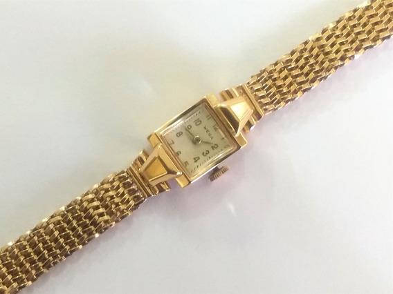 Relógio Bracelete Feminino Wega Em Ouro 18 K 720 C/ 25,2 Gr